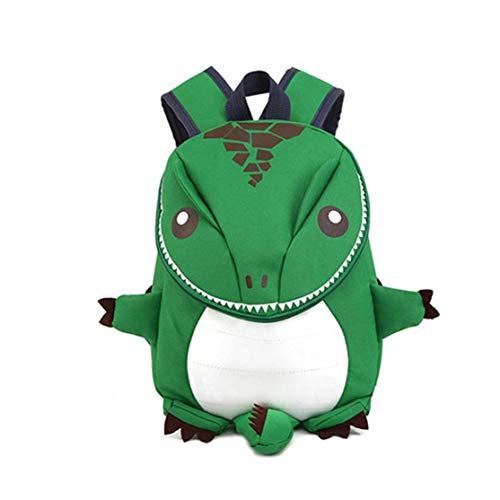 LouiseEvel215 Divertido Diseño Lindo Niños Niños Mochila Escolar Ligero Dinosaurio Forma Guardería Niños Mochila Preescolar