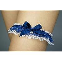 Giarrettiera di pizzo matrimonio sposa biancheria intima regali de nozze addio al nubilato blu Princess principessa…
