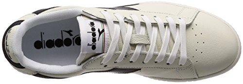 Diadora Game L Low, Chaussures de Gymnastique Homme Blanc Cassé (Bianco Nero Bianco)
