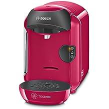 Bosch TASSIMO Vivy TAS1251 – Cafetera multibebidas automática de cápsulas, diseño compacto, color fucsia