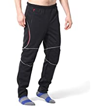 4Ucycling Señor pantalones para bicicleta Ciclismo pantalones largos, color  - negro, tamaño XL