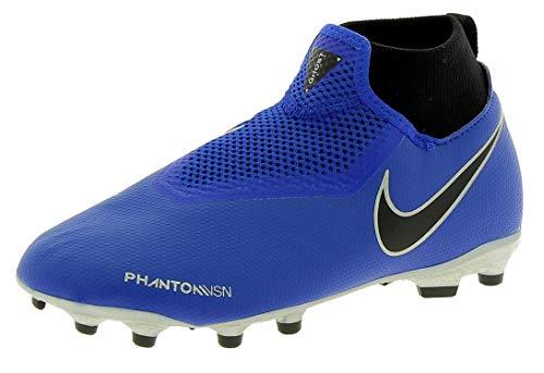 Nike Unisex-Kinder JR Phantom VSN Academy DF FG/MG Fußballschuhe,Blau (Racer Blue/Black Volt/MTLC Silver 400), 38 EU