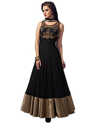 Marmic-Fab-Womens-Net-A-Line-Semi-Stitched-Anarkali-Dress-MaterialDresses-10BlueFree-Size