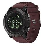 samLIKE Smartwatch für Herren und Damen Bluetooth Sportuhr Whatsapp Fitness Uhr 丨 Schrittzähler 丨 Remote-Kamera 丨 Anruferinnerung 丨 Kalorienzähler 丨 Nachricht Benachrichtigung (Rot)