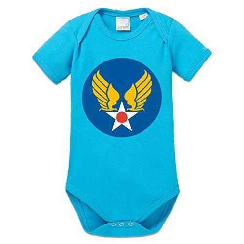 Shirtcity US Army Air Corps Baby Strampler (Blauen Air Army Corp T-shirt)