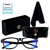 RAYTECTS Blue Light Blocking Glasses - Anti Glare Filter for Reading Eye Strain, Migraine Relief - Safety Eyewear for Gaming, Computer, Phone Screen - UV Protection Eyeglasses for Men, Women and Kids