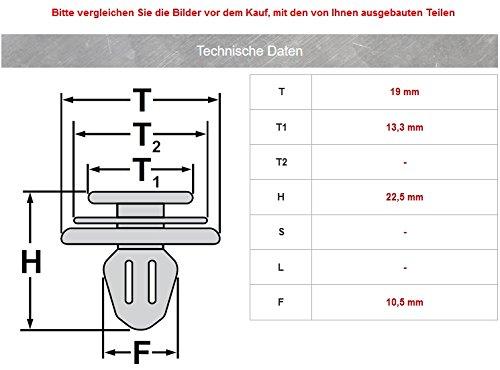 15x Habillage Intérieur Clips de fixation pour Mercedes Benz W245W169W212| a0009912498 pas cher – Livraison Express à Domicile