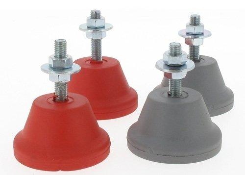Bases antivibración para climatizador, peso máximo de 60 kg