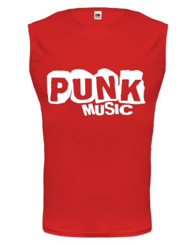 buXsbaum® Tank Top Punk Music Red-White