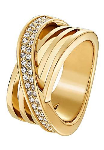 JETTE Magic Passion Damen-Ring Metall 46 Kristall gold, 53 (16.9)