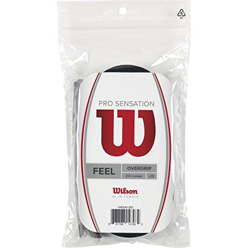 Wilson Overgrip Pro Sensation 30er Griffbänder, Black, STANDARD