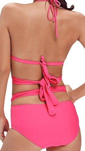 Frieda Fashion - Damen Bikini Bandage mit Schnürung, XS-2XL, Viele Farben  Pink ...