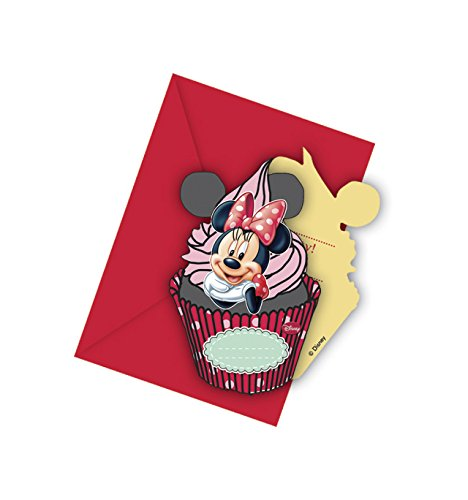 Disney Minnie Cafe Die-cut Invitations and envelopes, Red  available at amazon for Rs.71