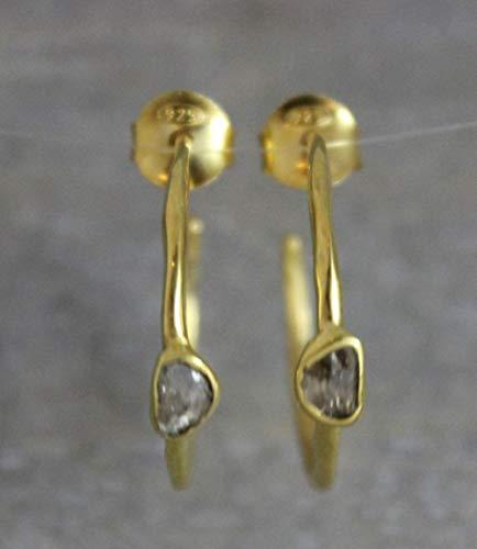 22 mm leichte, diamant beschichtete Sterling-Silber-Creolen