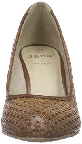 Jana 22401, Scarpe Col Tacco Donna Marrone (Braun (NUT 440))