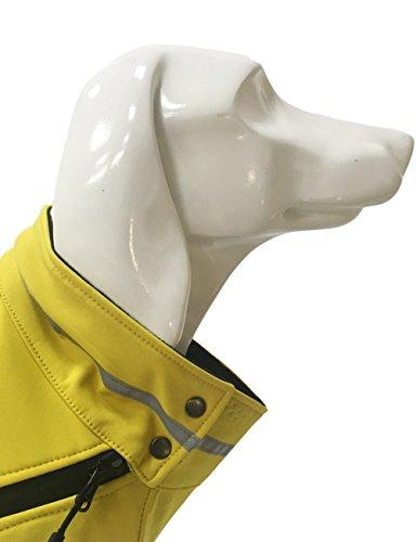 PALMFOX Haustier Hund Baumwolle Gefütterte Regenmantel Weste Kleider Mantel Jacke Kleidung Wasserdicht 3XL