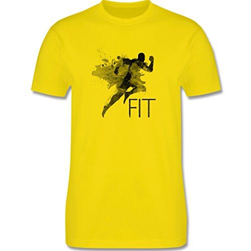 CrossFit & Workout - Fit - Splash - Herren Premium T-Shirt Lemon Gelb