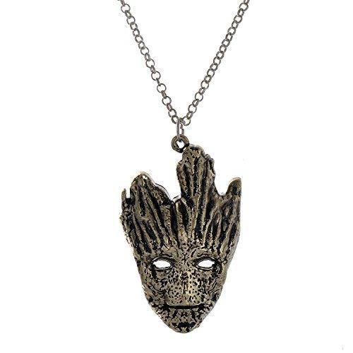 lureme® Jahrgang Stil Bronze Legierung Galaxy Baum Groot Maske Pendant Halskette (01003577)