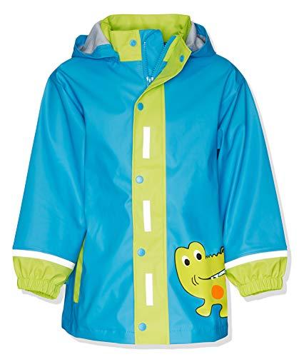 Playshoes Kinder Regenjacke mit Abnehmbarer Kapuze, Regen-Mantel für Mädchen und Jungen, mit Krokodil-Motiv