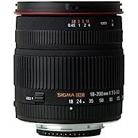 Sigma 18-200mm F3.5-6.3 DC (Nikon) - Objetivo (18 - 200 mm, 0.45 m, F22, 69.3 °, 70 mm, 78.1 mm) , color: Black