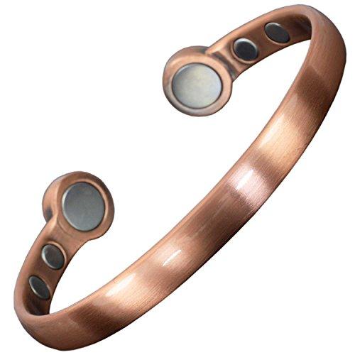 """HPC Magnet-Armreif zur Schmerzlinderung für Herren, Kupfer, Arthritis, Magnettherapie, Gesundheits-Armband mit starken Magneten, in Geschenkbox XL: Wrist 22.5-25.5cm/8.85-10"""" kupfer"""