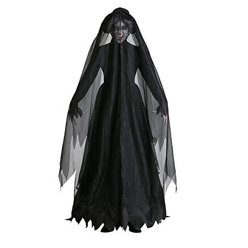 Halloween kostüm, Halloween Cosplay kostüm Halloween Cosplay Horror Kostüm,weibliches Geistbraut-vampirhexen-Halloween-stadiumskostüm des Erwachsenen - Weibliche Kostüm Horror
