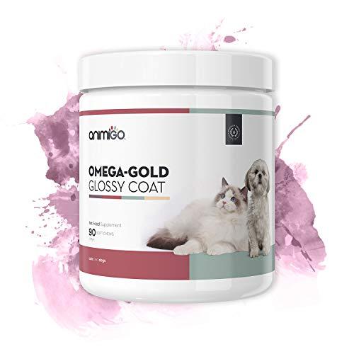 Kaubare Vitamine Zink (Animigo Omega-Gold Glänzendes Fell 90 Snacks Haut & Fell Ergänzung für Hunde und Katzen)