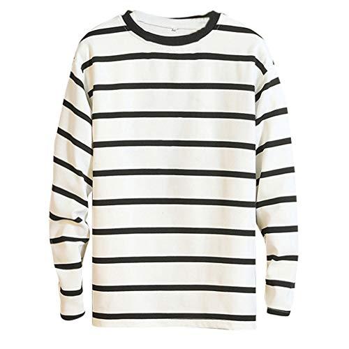 serliyHerren lässig gestreifte Nähte Rundhals Langarm T-Shirt Top Herbst und Winter lässige Mode Pullover Winter warme Kleidung - Metal Mayhem Kostüm