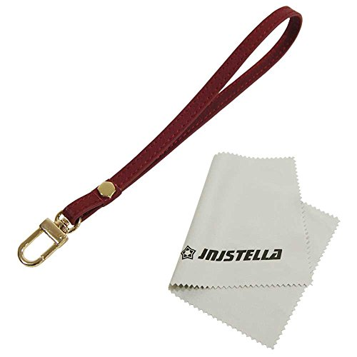 Echtes Leder Hand Wrist Strap Lanyard für Handy Kamera Ipod MP3MP4USB Flash Drive Ausweishalter, Schlüssel, Burgunderfarben (Wrist Strap Lanyard)