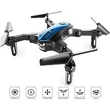 Drohne für Anfänger, transportierbarer Mini RC-Quadrocopter mit faltbaren Armen zum drinnen / draußen spielen, 2.4 Ghz 4 CH 6-achsige Gyro / Ein-Tasten-Rückkehr / Kopflos-Modus / Höhe-halten / 3D-Flips, einfach zu kontrollieren