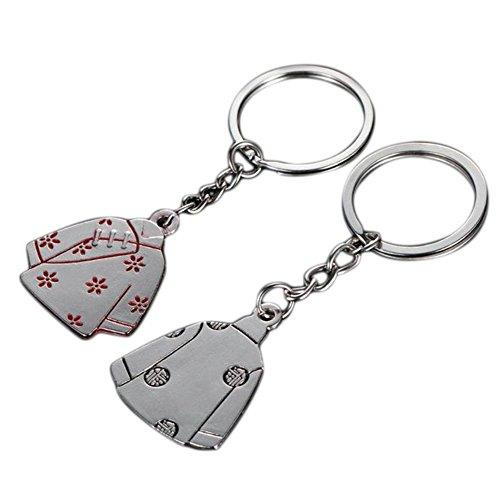 Cdet Schlüssel Kette Tang Kostüm Form Liebhaber Paar Legierung Kreativ Rucksack-Anhänger Auto Schlangenkette Schlüsselbund Schlüsselkollektion Schlüssel Zubehör Schmuckzubehör,2 pcs