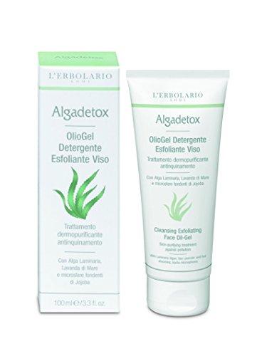 L'Erbolario ALGADETOX Reinigungs-Öl-Gel Peeling für das Gesicht, 100 ml