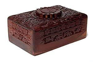 Find Something Different Etwas finden verschiedene Sun Holz geschnitzt Tarot Box, Bambus, mehrfarbig