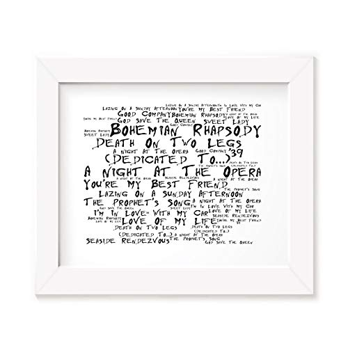 Queen Poster Print - A Night at the Opera - Letra