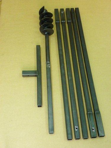 Erdbohrer Erdlochbohrer Brunnenbohrer Pfahlbohrer Handerdbohrer 120 mm 6 meter Bohrgerät f. Brunnen und Rammfilter