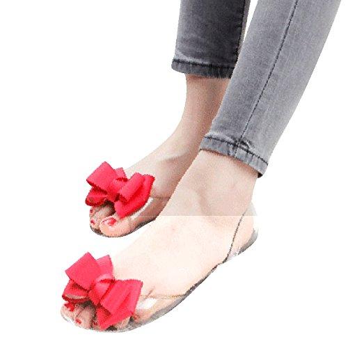 Zormey Hee Grand 2017 Nouvelles Femmes Jelly Sandales Sweet Bowtie Télévision Chaussures Femme Chaussures Slip On Été Jelly 4 Couleurs Taille 35-40 Xwz3710 6.5