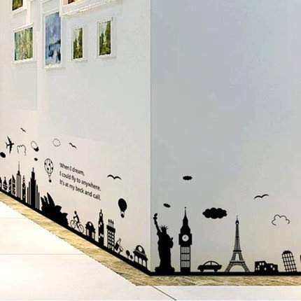 Kronleuchter Wandbehänge literarische Billard Schlafzimmer Wandaufkleber Aufkleber Dekorationen Stadtszene Stil3