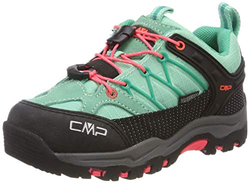 Mädchen Schuhe Flache (CMP Unisex-Kinder Rigel Low Trekking- & Wanderhalbschuhe Grün (Aquamint-Red Fluo 54ec) 31 EU)
