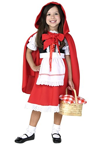 Deluxe Child Little Red Riding Hood Fancy dress costume X-Large ()