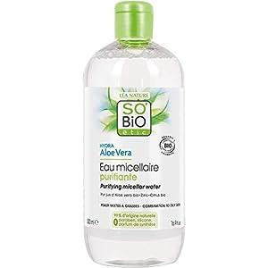 So' Bio étic, acqua micellare purificante per pelli miste a grasse, idratante, all'aloe vera, bio, 500ml