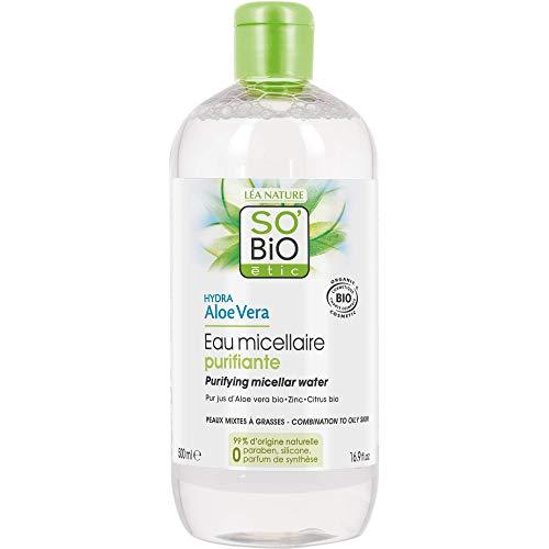 Scheda dettagliata So' Bio étic, acqua micellare purificante per pelli miste a grasse, idratante, all'aloe vera, bio, 500ml