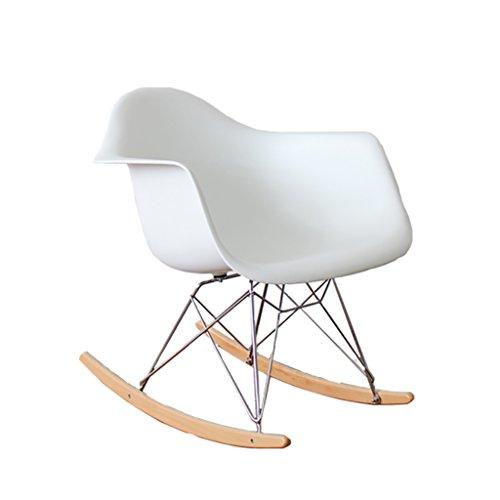 QPG Balcon Minimaliste Idées Modernes Nordique Occasionnel Salon Adulte En Bois Massif Chaise à bascule Paresseux Nappage Heureux Chaise Longue (Couleur : A)