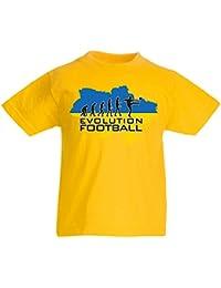 lepni.me Camiseta Niños/Niñas Evolución del Fútbol - Ucrania, Campeonato, Equipo