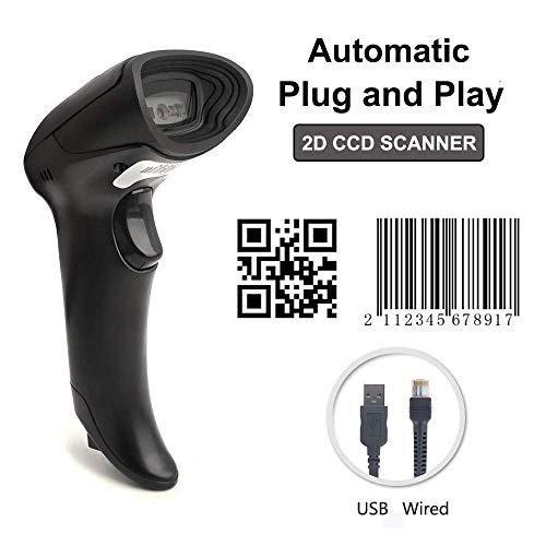 [Upgrade 2.0] 2D QR USB Barcodescanner MUNBYN Handscanner Barcode Scanner Play & Plug Handheld Lesegerät Kabelgebunden für Linux Mac und Windows PC - Windows Scanner