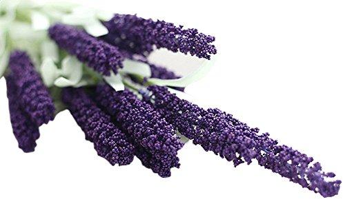 Cdet Künstliche Blumen Lavendel PE-Schaum Lavendelblüten Hochzeitsbedarf Fake Blumen Hochzeit Festival Dekorative Blumen Haus Dekoration Café Hotel Dekorative Blumen(5 Pcs) -