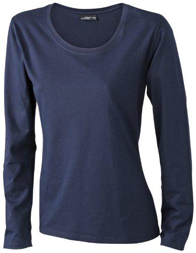 James & Nicholson Damen T-Shirt Langarmshirt Medium navy