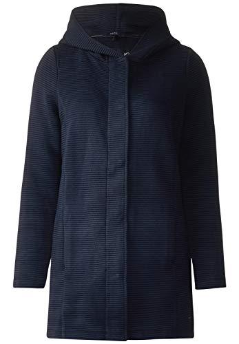 Cecil Damen Sweatjacke 252712 Vivienne, Blau (deep Blue 10128), X-Large (Herstellergröße: XL)