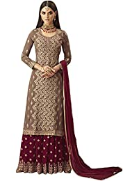 cd262fd5e93 Dresser Women s Faux Georgette Sharara Salwar Suit (MOHINI 57004