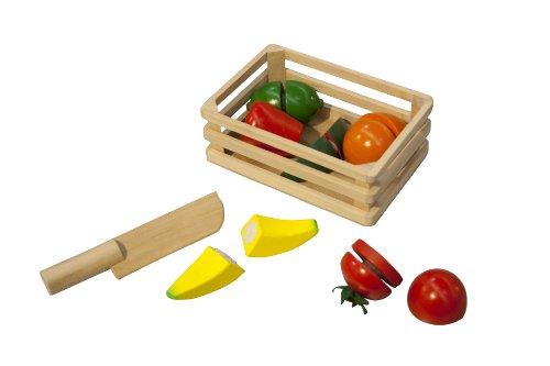Box con frutta, verdura e 1 coltello