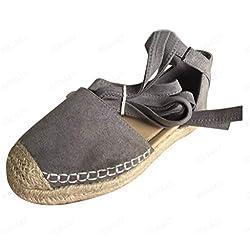 Sandalias Romanas Zapatos de la Correa Senderismo Yute Alpargatas de Verano Beach Unisa Plataforma 2019